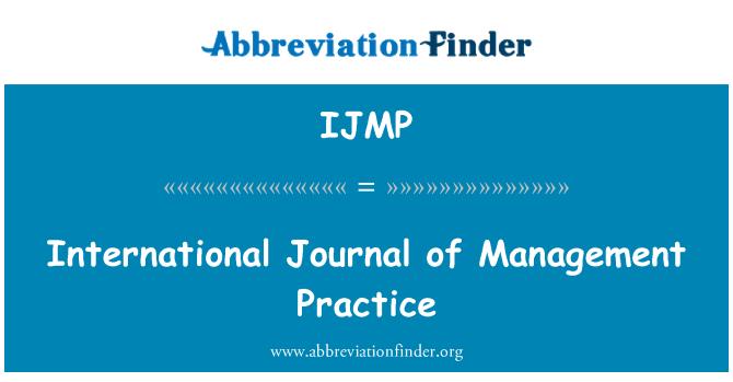 IJMP: International Journal of Management Practice