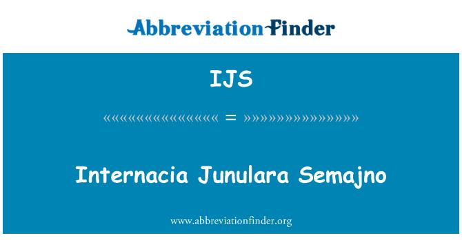 IJS: Internacia Junulara Semajno