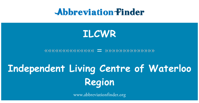 ILCWR: Independent Living Centre of Waterloo Region
