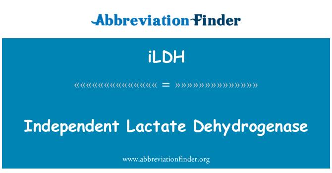 iLDH: Independent Lactate Dehydrogenase