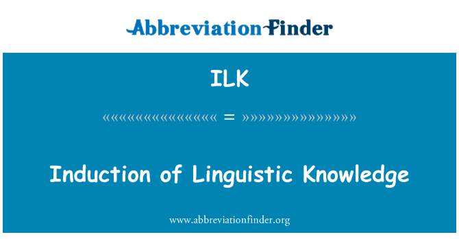 ILK: Induction of Linguistic Knowledge