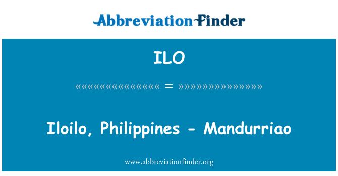 ILO: Iloilo, Philippines - Mandurriao