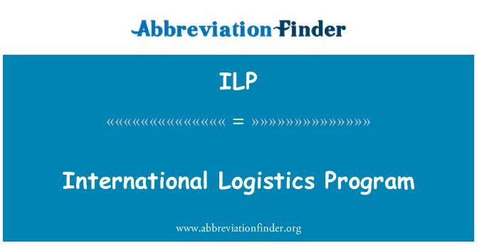 ILP: International Logistics Program