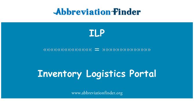 ILP: Inventory Logistics Portal