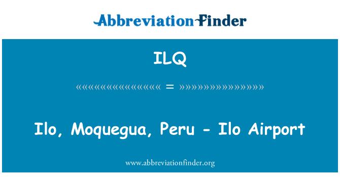 ILQ: Ilo, Moquegua, Peru - Ilo Airport