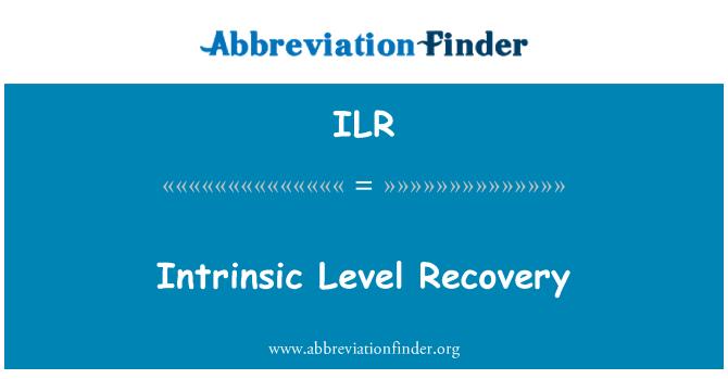 ILR: Intrinsic Level Recovery