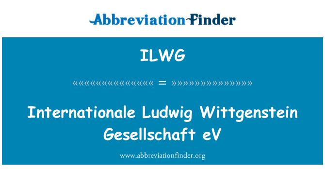 ILWG: Internationale Ludwig Wittgenstein Gesellschaft eV
