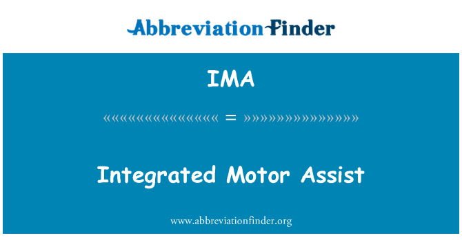 IMA: Integrated Motor Assist