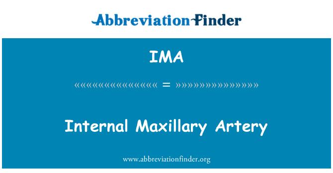 IMA: Internal Maxillary Artery