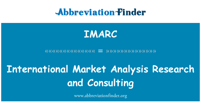 IMARC: International Market Analysis Research and Consulting