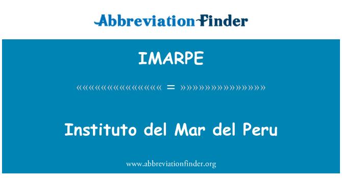 IMARPE: Instituto del Mar del Perú
