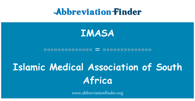 IMASA: Islamic Medical Association of South Africa