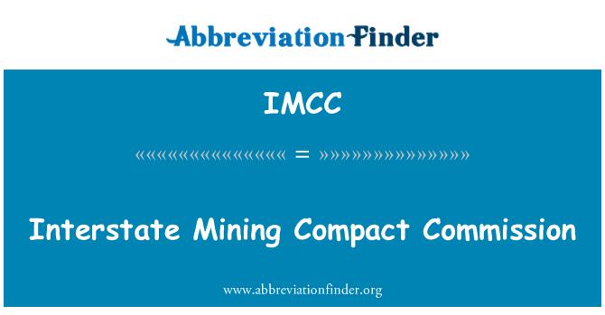 IMCC: Suruhanjaya padat perlombongan antara Negeri