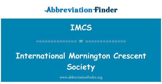 IMCS: Sociedad Internacional de Mornington Crescent