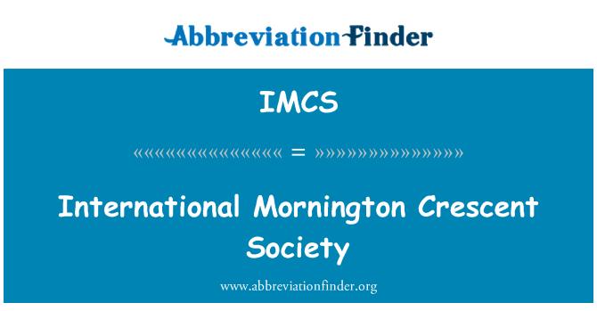 IMCS: Sociedad Internacional de Mornington Crescent