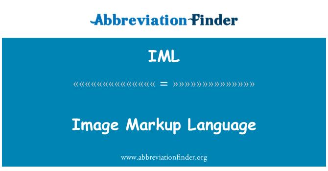IML: Image Markup Language