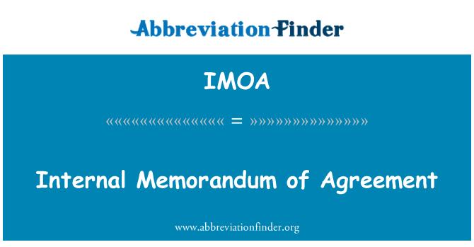 IMOA: İç mutabakat anlaşması