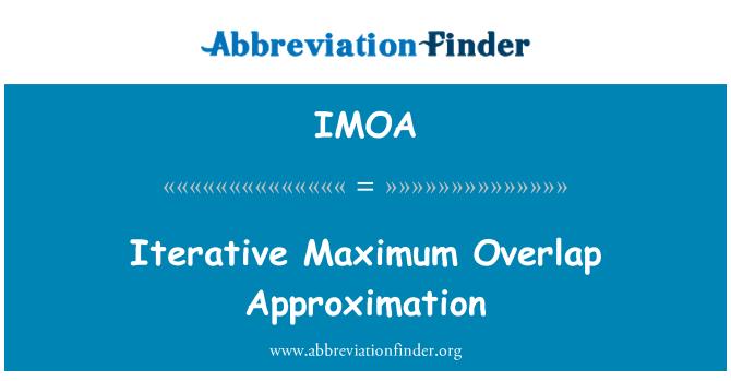 IMOA: Yinelemeli maksimum çakışan yaklaşım