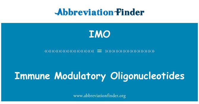 IMO: Immune Modulatory Oligonucleotides