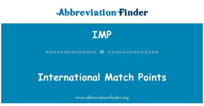 IMP: International Match Points