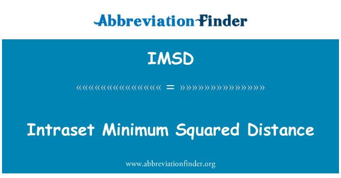 IMSD: Intraset Minimum Squared Distance