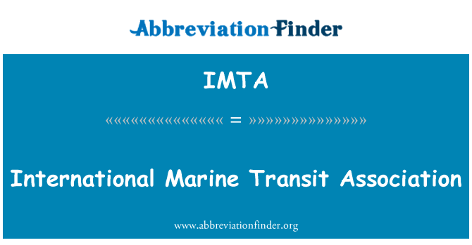 IMTA: International Marine Transit Association