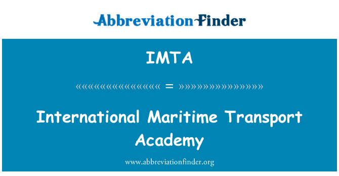 IMTA: International Maritime Transport Academy