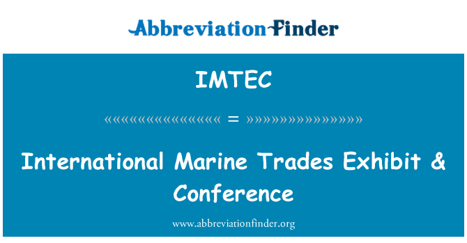 IMTEC: Internacionales operaciones marinas exposición y Conferencia