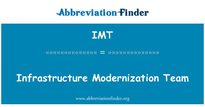 IMT: Infrastructure Modernization Team