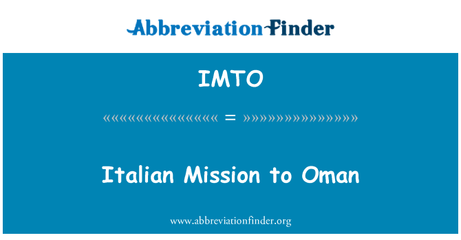 IMTO: Italian Mission to Oman