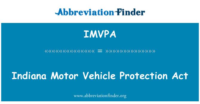 IMVPA: Legge sulla protezione dell'autoveicolo indiana