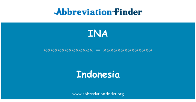 INA: Indonesia