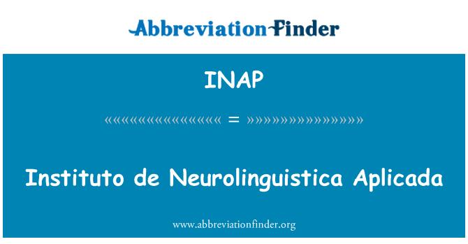 INAP: Instituto de Neurolinguistica Aplicada