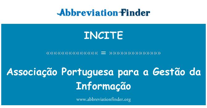 INCITE: Associação Portuguesa para a Gestão da Informação