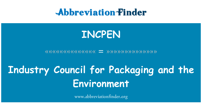 INCPEN: Industry Council for Packaging and the Environment