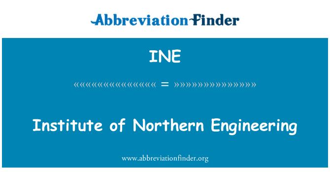 INE: Institute of Northern Engineering