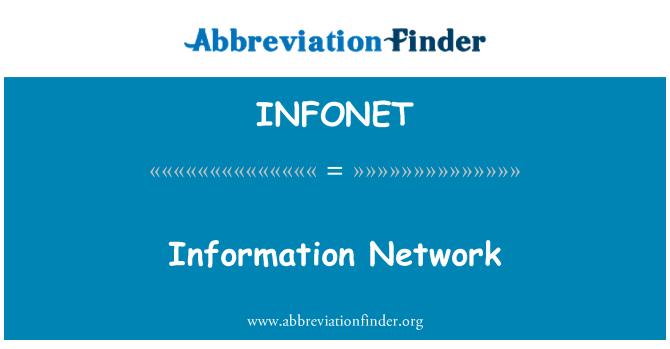 INFONET: Information Network