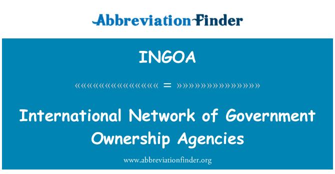 INGOA: International Network of Government Ownership Agencies