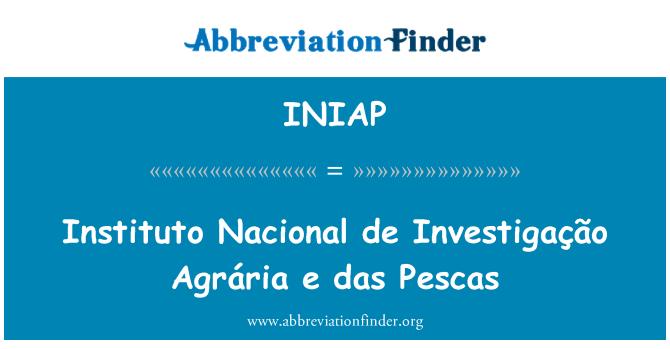 INIAP: Instituto Nacional de Investigação Agrária e das Pescas