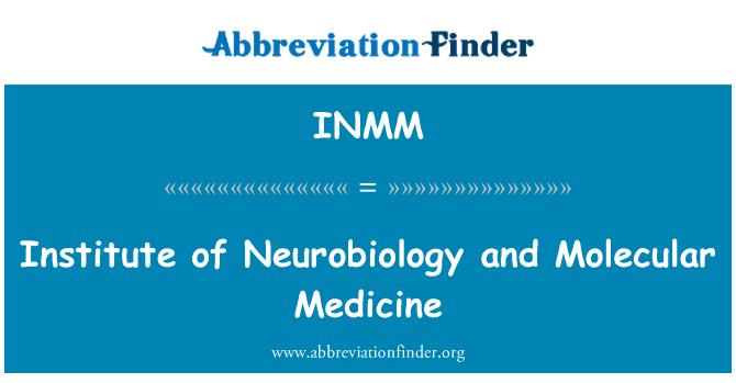 INMM: Neurobiologian laitos ja Molekulaarisen lääketieteen