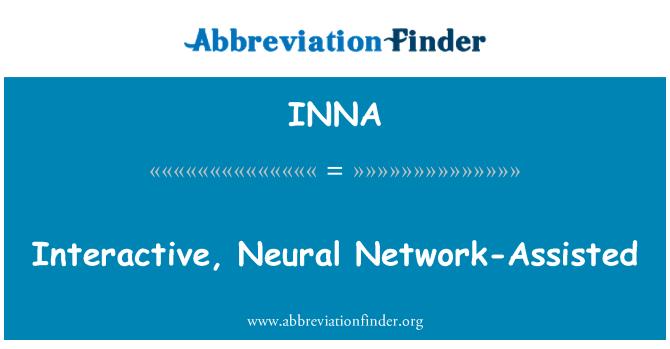 INNA: Interaktivní, neuronová síť asistované
