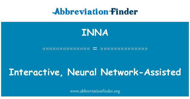 INNA: Interaktivni, neuronske mreže-pomoć