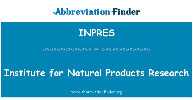INPRES: Instituto de investigación de productos naturales