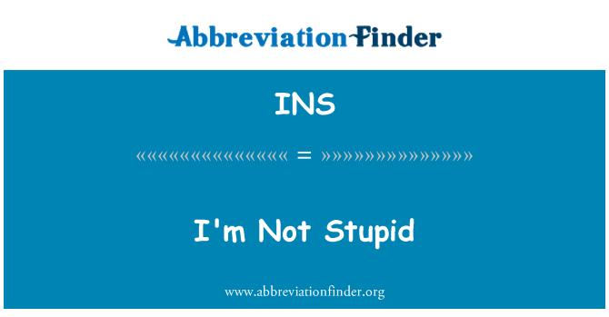 INS: I'm Not Stupid
