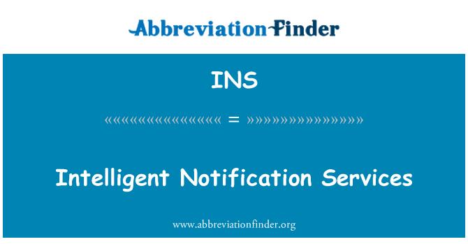 INS: Intelligent Notification Services