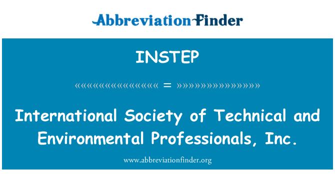 INSTEP: Rahvusvaheline ühiskond tehnika ja keskkonnakaitse spetsialistid, Inc