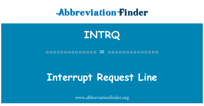 INTRQ: Interrupt Request Line