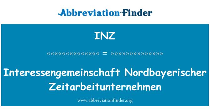 INZ: Interessengemeinschaft Nordbayerischer Zeitarbeitunternehmen