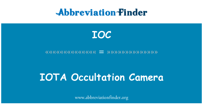IOC: IOTA Occultation Camera