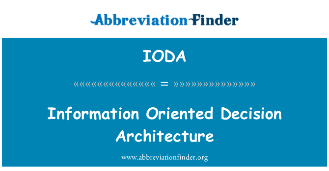IODA: Information Oriented Decision Architecture